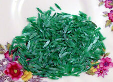 #75 Vintage Lucite Beads Chip Chips Green Quality Odd Shapes Art Artsy Daggers