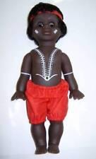 "Australian Aboriginal Doll Boy Black 35cm 13.5"""
