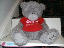Lovely Huge LOVE YOU LOTS  Me to You Bear Red T shirt with 3 Hearts on So Cute