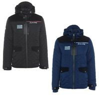New Rawcraft Men's Quilted Padded Hooded Coat Navy & Black S M L XL XXL Jacket