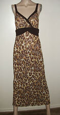 NEW SWEET PEA BY STACY FRATI LEOPARD PRINT MAXI DRESS~SIZE S