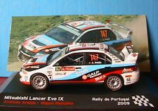 MITSUBISHI LANCER EVO IX #147 RALLYE DU PORTUGAL 2009 ARAUJO RAMALHO IXO 1/43