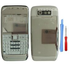 Silver White Fascia Full Housing Case Cover Faceplate Keypad for Nokia E71 +Tool