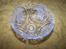 Cristal d'arques Compot/Candy Dish With  Five Different Frost Birds Footed