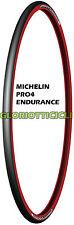 MICHELIN - COPERTURA 700X23 ENDURANCE CORSA PRO 4 ROSSO-NERO