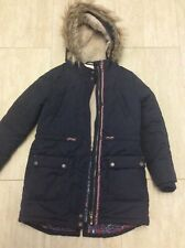 Girls Fatface coat age 10-11 years navy zip does not work