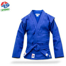 New krepysh combat sambo jacket (judo, mma) FIAS approved. Blue