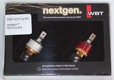 WBT 0210 AG MS nextgen RCA Cinch Einbaubuchsen Neu in OVP