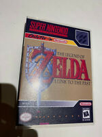 SUPER NINTENDO SNES LEGEND OF ZELDA LINK TO THE PAST  GAME + CASE BOX AUTHENTIC
