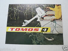 O186 BROCHURE FOLDER TOMOS 4 BUITENBOORMOTOR,BOAT ENGINE DUTCH 4 PAGES ORIGINAL