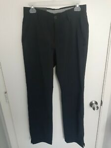 NEW Under Armour Men's Black Straight Fit Golf Pants 30x32 MSRP $80 NWT
