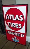 Standard gas gasoline oil Atlas Tires...large sign