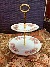 Colclough Wayside 2 Tier Cake Stand Pretty & Floral