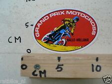 STICKER,DECAL HALLE GRAND PRIX MOTOCROSS HOLLAND MX CROSS