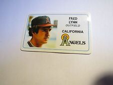 MINT 1981 PERMAGRAPHICS  FRED LYNN ANGELS  CREDIT CARD
