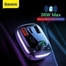 Baseus Bluetooth 5.0 Wireless Handsfree Car MP3 Player Transmissor Fm Carregador Usb