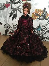 OOAK Handmade Doll Barbie Dress Victorian Gothic Gone with the Wind Collector