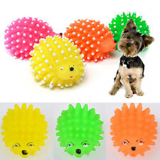 1pcs Cute Hedgehog Shape Pet Dog Puppy Squeaky Chew Squeaker Ball Funny Toy