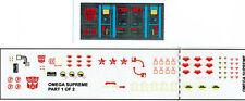 Transformers génération 1, G1 Autobot OMEGA SUPREME repro Labels/stickers