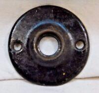 1800's Antique DOOR PLATE Round VICTORIAN Style Original Black Finish ORNATE