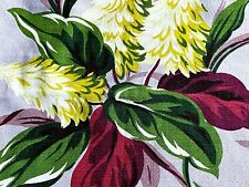 SALE Tropical Miami Pillow Case Barkcloth Vintage Fabric 30's South Beach DIY