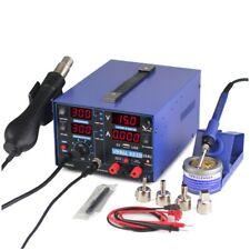 3 In 1 Soldering Rework Station 220V + Hot Air Gun +15V DC Power Supply 853D USB