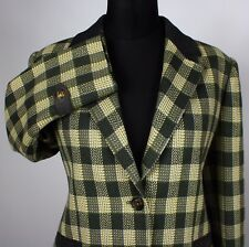 Womens Celine Paris Tweed Blazer Jacket Designer Size 12 RRP £2500 AMAZING 875