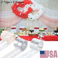 2x Balloon Arch Frame Kit Column Base Tape Dots Sticker Wedding Party Decorate