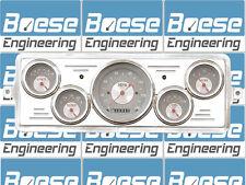 39 Chevy Car Billet Aluminum Dash Insert Gauge Panel Classic Instruments Cluster