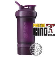 BLENDER BOTTLE PROSTAK 500ML PLUM PROTEIN SHAKER CUP BPA FREE PRO STAK 16 OZ