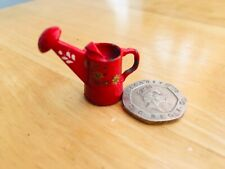 DOLLS HOUSE EMPORIUM bargeware red floral metal watering can