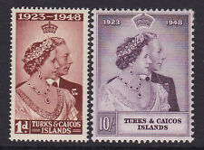 TURKS & CAICOS. 1948. SG 208 & 209. MOUNTED MINT.