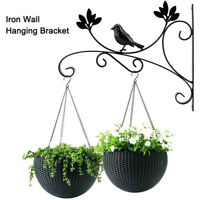 Retro Storage Rack Garden Planter Hooks Metal Plant Bracket Wall Hanging Hook