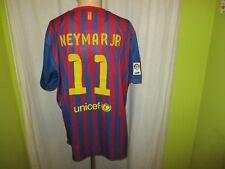 "Fc Barcelona camiseta nike 2011/12 ""Qatar Foundation"" + nº 11 Neymar Jr talla XXL Top"