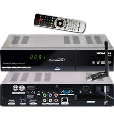 Megasat HD 935 Twin HDTV Sat Receiver USB PVR ready Live Stream + WLAN Stick