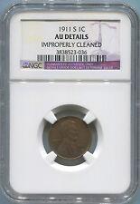 1911 S Lincoln Wheat Cent, NGC AU Details