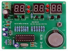 Digitaluhr-Bausatz 6-stellige 7-Segment Anzeige rot LED mit sek. Atmel Chip 1St.