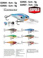 Rapala Glass Shad Rap® Fishing Lure 4cm - 7cm  5g - 12g Various Colours