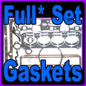 Full Set* of Gaskets for Chrysler slant 6 170 225, 1960-1984-1985-1986-1987
