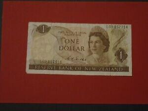 NEW ZEALAND 1968 1 DOLLAR CIRCULATED BANKNOTE P-163b