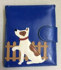 Blue Women's Wallet with 3D Dog Design Display High Quality Unique New Item