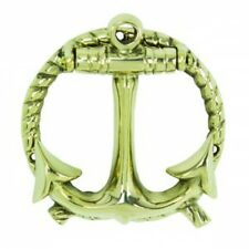 Decorative ANCHOR ROPE hardware Beach nautical DOOR KNOCKER Polished Brass