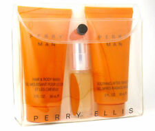 Perry Man for Men by Perry Ellis Cologne  Spray 0.25 oz + After Shave + Gel  Set