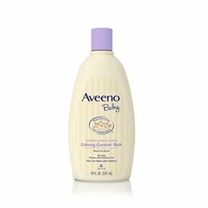 Aveeno Baby Calming Comfort Bath, Tear Free, Lavender & Vanilla, 18 oz