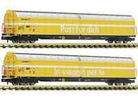 """Fleischmann N 838312 SBB Schiebewandwagen-Set """"Post/PTT"""" Neuheit 2019 NEU + OVP"""