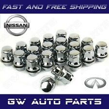 20 PCs MAG LUG NUT with WASHER OEM FACTORY STYLE CHROME 12mmX1.25 FITs NISANN