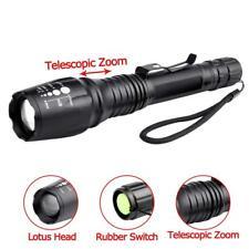 80000 LM 5 Modes XM-L T6 LED 18650 Powerful Torch Police Clip Flashlight Lamp YA