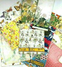 Vintage Wrapping Paper Lot NOS NIP Loose Sheets Ephemera Hallmark Hollie Hobbie