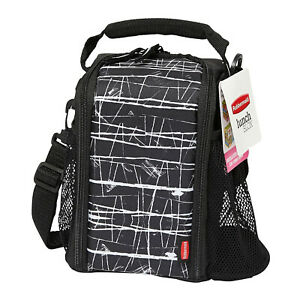 Rubbermaid LunchBlox Lunch Bag Small Black Etch