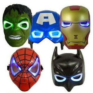 Avengers Hulk Light Up Ironman LED Spider-Man Mask Gift Kids Toy Pendent Piece